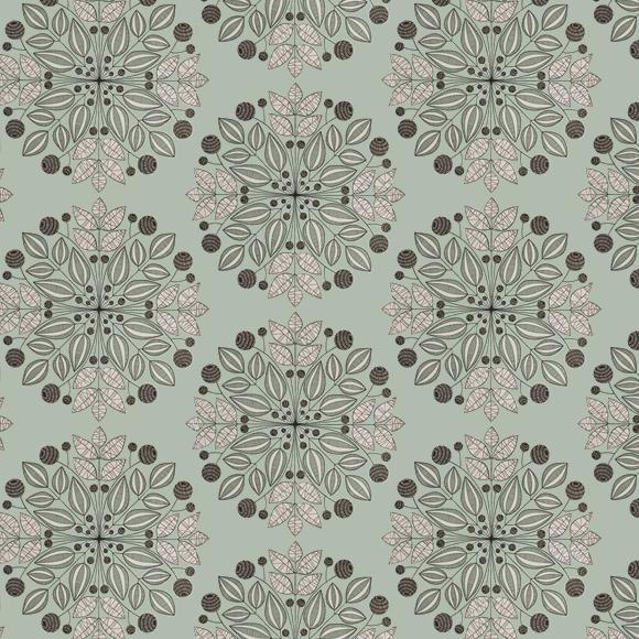 Papier peint vert kaleidoscope inspiration florale for Chambre bebe denver