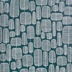 Papier peint - MissPrint - Little Trees - Petroleum