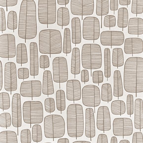 papier peint blanc marron motif d arbres graphiques little. Black Bedroom Furniture Sets. Home Design Ideas