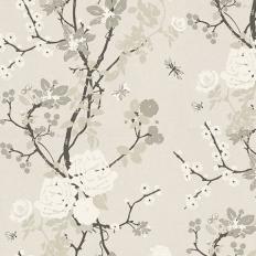 Papier peint - Tapet Cafe - Mademoiselle - Silver mist