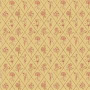 Papier peint - Thibaut - Posy - Coral on Yellow