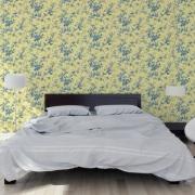 Papier peint - Thibaut - Isabelle - Blue on Yellow
