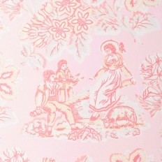 Papier peint - Anna French - Girl on a see saw - Pink