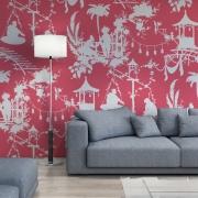 Papier peint - Thibaut - South Sea - Pink