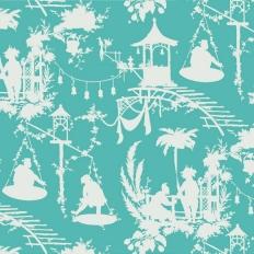 Papier peint - Thibaut - South Sea - Turquoise