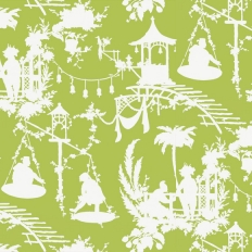 Papier peint - Thibaut - South Sea - Green