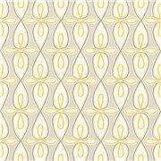 Papier peint - Thibaut - Bribie - Yellow and Grey