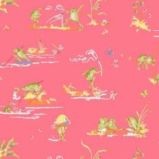Papier peint - Thibaut - Resort Frogs - Pink