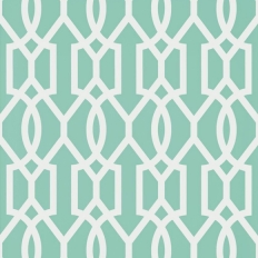 Papier peint - Thibaut - Downing Gate - Turquoise