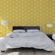 Papier peint - MissPrint - Dewdrops - Citron