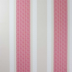 Papier peint - Osborne & Little - Chantilly stripe - Red/White/Linen