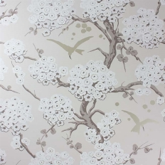 Papier peint - Osborne & Little - Japonerie - Stone/Taupe/Metallic