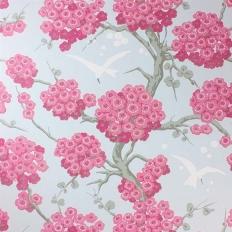 Papier peint - Osborne & Little - Japonerie - Pink/Silver/Ivory