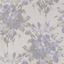 Papier peint - Osborne & Little - Pot Pourri - Silver/Sapphire