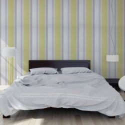 Papier peint - Osborne & Little - Chantilly stripe - Primrose/Silver