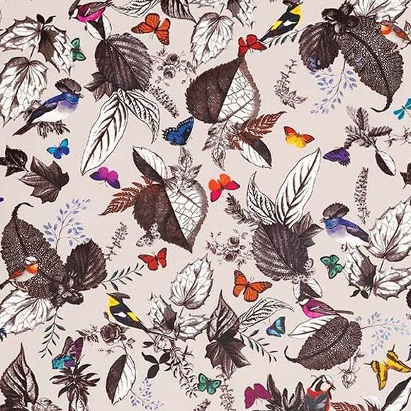 Papier peint - Osborne & Little - Bird song - Multi/Stone