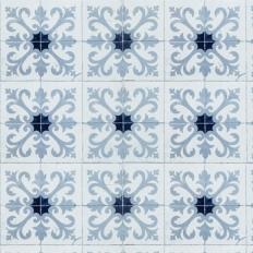 Papier peint - Coordonné - Damascus - Bleu
