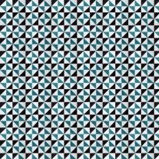 Papier peint - Coordonné - Fez - Bleu/noir/blanc