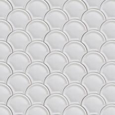 Papier peint - Coordonné - Scales - Blanc