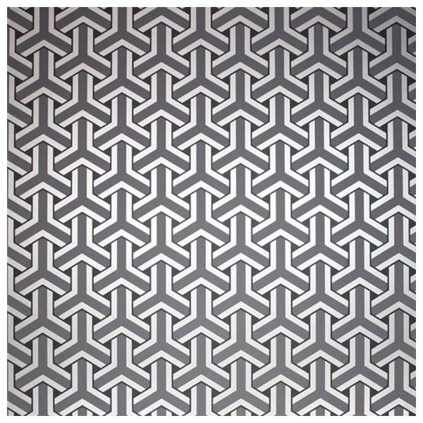 papier peint motifs gris anthracite et argent trifid. Black Bedroom Furniture Sets. Home Design Ideas
