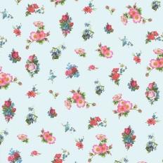 Papier peint - Coordonné - Romantic Flower - Pale blue