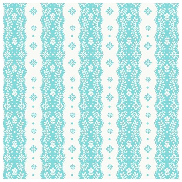 Papier peint turquoise rayures dentelle editeur coordonn - Papier peint dentelle ...