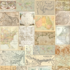 Décor mural - Coordonné - Old Maps - Beige