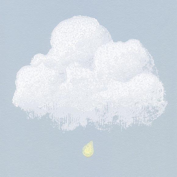 papier peint chambre enfant nuages fond bleu. Black Bedroom Furniture Sets. Home Design Ideas