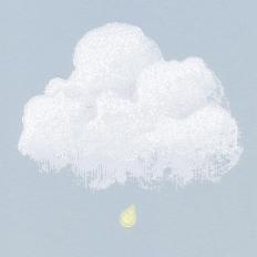 Papier peint - Bartsch - Nuages de Coton - Bleu fumée