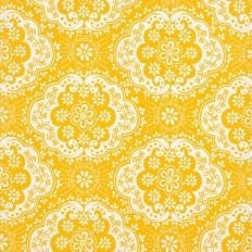 Papier peint - Coordonné - Dentelle - Yellow