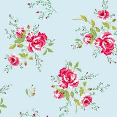 Papier peint - Coordonné - Winter Poppies - Blue