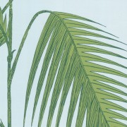 Papier peint - Cole and Son - Palm Leaves - Pale Blue & Green