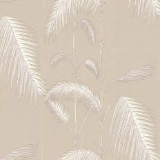 Papier peint - Cole and Son - Palm Leaves  - Beige & White