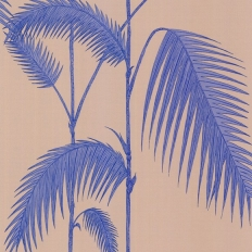 Papier peint - Cole and Son - Palm Leaves  - Blue & Beige