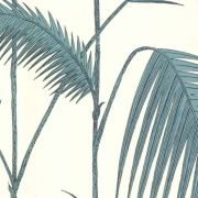 Papier peint - Cole and Son - Palm Leaves - Off White & Green