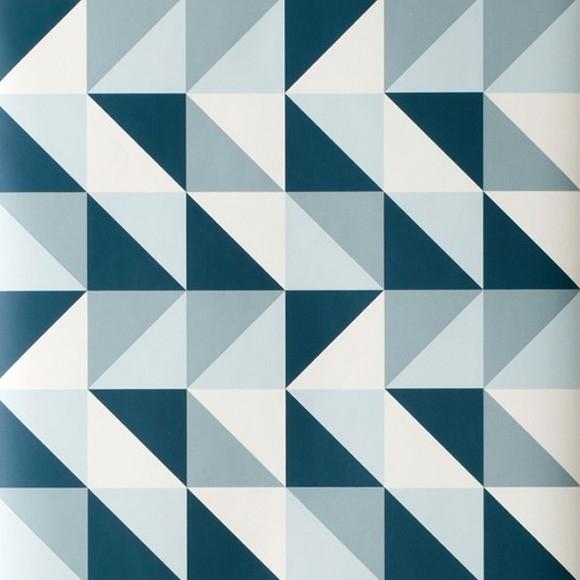papier peint bleu g om trique remix de ferm living. Black Bedroom Furniture Sets. Home Design Ideas