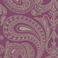 Papier peint - Cole and Son - Malabar - Purple & Grey