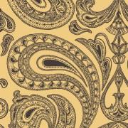 Papier peint - Cole and Son - Malabar - Yellow & Black