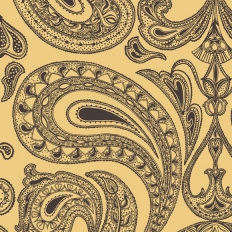 Papier peint - Cole and Son - Malabar - Yellow & Black