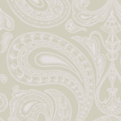 Papier peint - Cole and Son - Malabar - Pale Grey & Silver