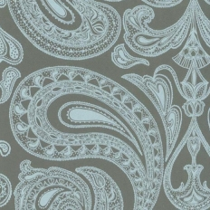 Papier peint - Cole and Son - Malabar - Teal & Pale Blue