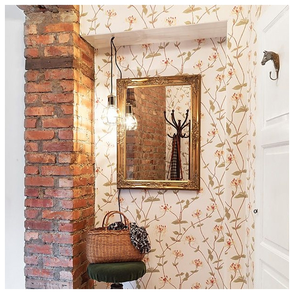 papier peint fleurs gris elizabeth sandberg au fil des. Black Bedroom Furniture Sets. Home Design Ideas