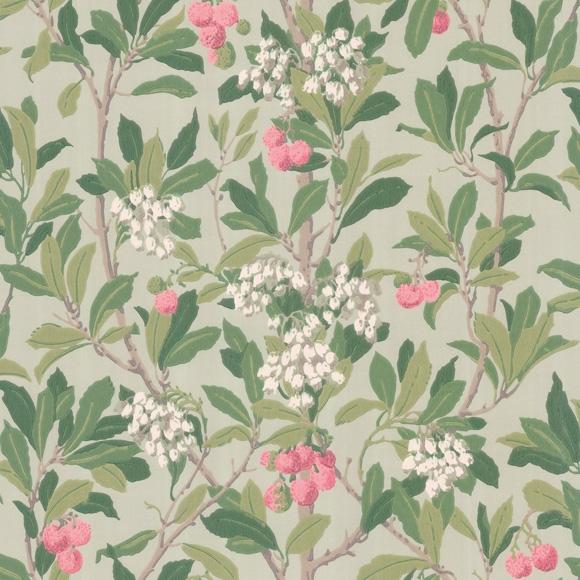 papier peint vert fleuri strawberry tree cole son. Black Bedroom Furniture Sets. Home Design Ideas