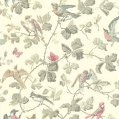 Papier peint - Cole and Son - Winter Birds - Linen