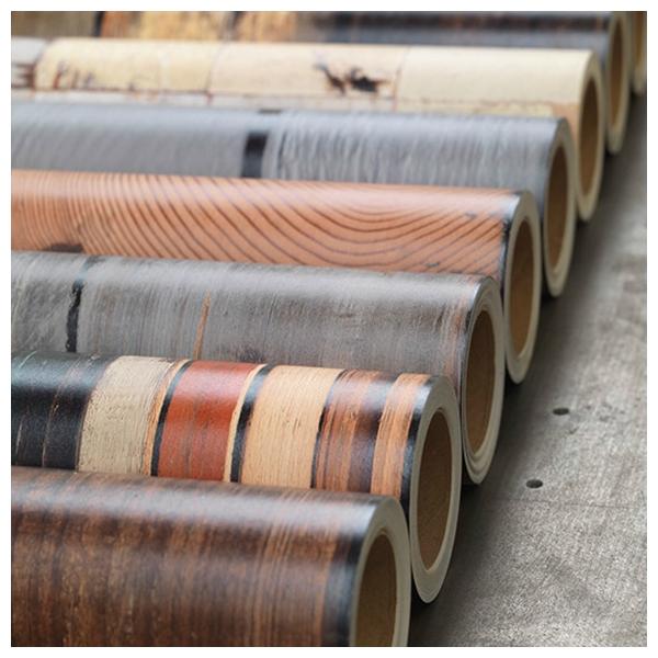 Papier peint scrapwood aux fines plances color es for Papier peint facon bois