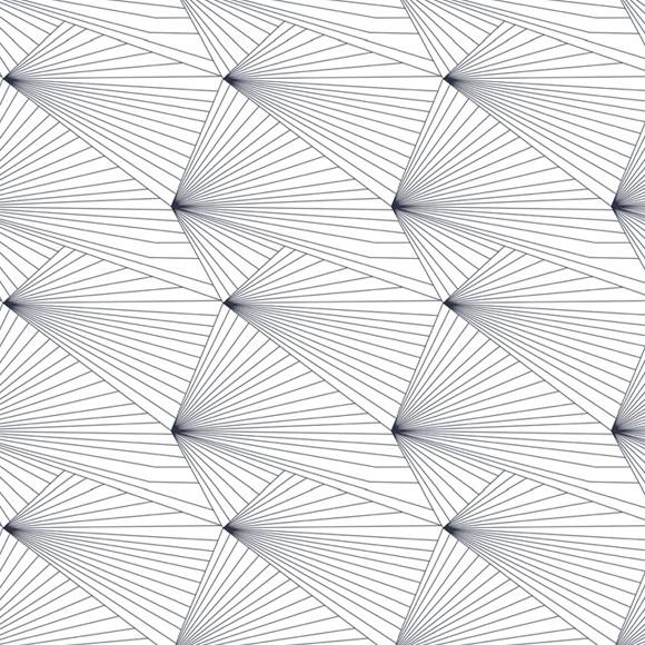 Papier peint g om trique avec des lignes fan navy white for Papier peint gratuit