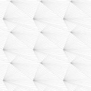 Papier peint - Erica Wakerly - Fan - Grey / White