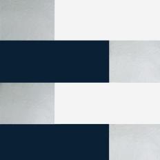 Papier peint - Erica Wakerly - Block - Navy / White / Silver