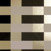 Papier peint - Erica Wakerly - Block - Brown / Cream / Gold