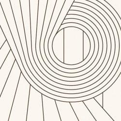 Papier peint - Erica Wakerly - Spiral - Brown / Cream
